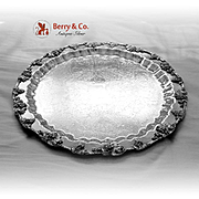 Grape Vine Large Footed Punch Bowl Tray Silver Plate Birmingham Silver Co 1960