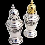 Strasbourg Salt Pepper Shaker Set Sterling Silver Gorham 1897