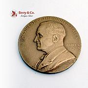 Harry S Truman Second Term Inaugural Medal Bronze US Mint 1945