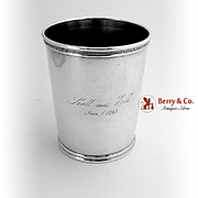 Trees Large Julep Cup Sterling Silver 1961