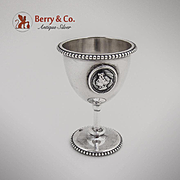 Medallion Egg Cup Coin Silver 1870