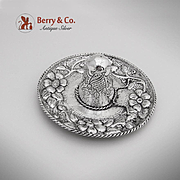 Floral Sombrero Dish Sterling Silver Sanborns 1960