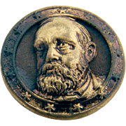 Benjamin Harrison Bust Presidential Campaign Button Stud 1888