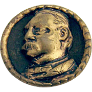 Grover Cleveland Bust Presidential Campaign Button Stud 1888