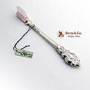 Repousse Scroll Toothbrush Sterling Silver Plastic