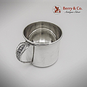 Rose Point Baby Cup Sterling Silver Wallace 1934