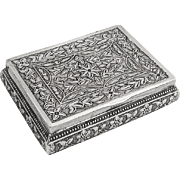Persian Middle Eastern Style Snuff Box 900 Silver 1890