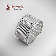 Art Deco Napkin Ring London Sterling Silver 1948 No Monogram
