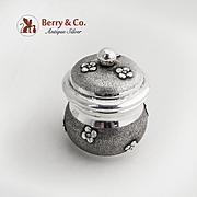 Dresser Jar Applied Blossoms Italian 800 Silver 1930 No Monograms