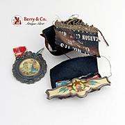 GAR Medal Julius T Barrett Post 173 Carson City Michigan c.1900
