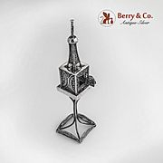 Vintage Spice Tower Filigree Sterling Silver
