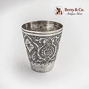 Persian Shot Cup Ornate Decorations 84 Standard Silver 1920