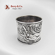 Art Nouveau Nude Lady Napkin Ring Sterling Silver Art Nouveau 1900