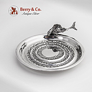 Figural Fish Serving Dish 800 Silver Florence 1950
