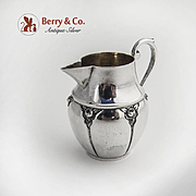 Individual Creamer 800 Silver Rose Decorations Germany