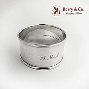 Napkin Ring Sterling Silver Gorham Silversmiths Mono AMA