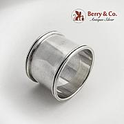 Napkin Ring Sterling Silver Gorham Silversmiths Mono WDVB