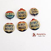 Dewey Pin Dewey Bricker Pin 4 Tabs 1944 Presidential Campaign