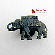 Hughes GOP Elephant Collar Pin Presidential Campaign 1916