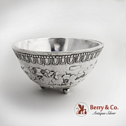 Medieval Reproduction Grape Bacchus Footed Bowl Silverplate on Copper English c.1850