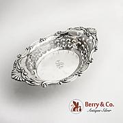 Pierced Bon Bon Bowl Cromwell 1908 Gorham Sterling Silver Monogram S