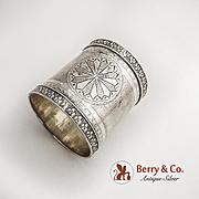 Victorian Napkin Ring Coin Silver 1880