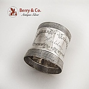 Aesthetic Napkin Ring Coin Silver 1880