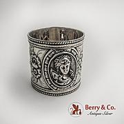 Medallion Napkin Ring Coin Silver 1880