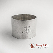Napkin Ring Sterling Silver 1900 Monogram AC