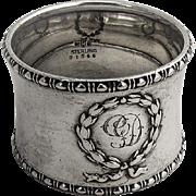 Wreath Napkin Ring Sterling Silver Gorham Silversmiths 1910