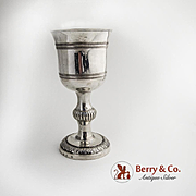 Antique Silver Goblet 18th early 19th Century