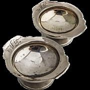 Pair Open Salt Cellars Dishes Sterling Silver Gorham Silversmiths 1880