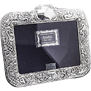 Ornate Victorian Style Picture Frame Sterling Silver