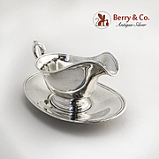 Gravy Boat and Under Plate Sterling Silver International 1920