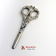 Grape Shears Grape Handles Sterling Silver 1900