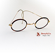 Vintage Glasses Gold Filled and faux Tortoise Frames 1920