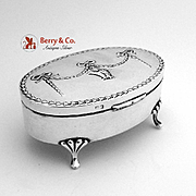 Oval Edwardian Box Sterling Silver Birmingham 1910