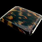 Vintage faux Tortoise Cigarette Case 1900