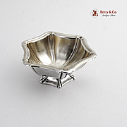 Small Hexagonal Salt Dish Sterling Silver 1900