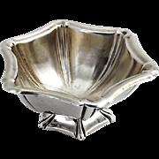 Small Hexagonal Salt Dish Sterling Silver 1900
