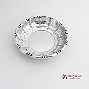 Art Deco Hammered Serving Bowl Wallace Sterling Silver 1930