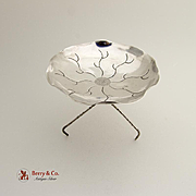 Figural Leaf Form Footed Bowl Chinese Export Silver 1930