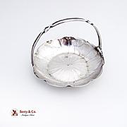 Chinese Export Silver Floral Basket Wang Hin 1900