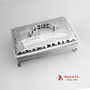 Antique Dutch Rectangular Box 833 Silver 1890