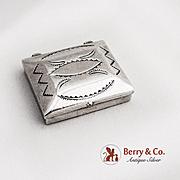 Navajo Small Box Sterling Silver 1970