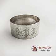 Napkin Ring Sterling Silver 1900 Monogram SPP