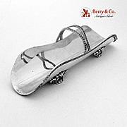 Celery Tray Empire Pattern 800 Silver Italy 1960