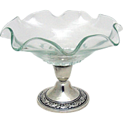 Vintage Compote Candlestick Sterling Silver Alvin 1940