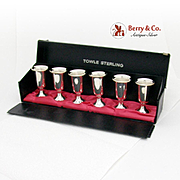 Cordial Cups Set of 6 Sterling Silver Towle Silversmiths
