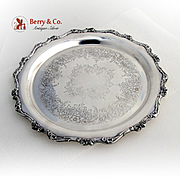 American Rose Serving Tray Wilcox Silverplate